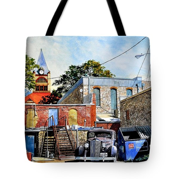 Stephenville Alley  Tote Bag