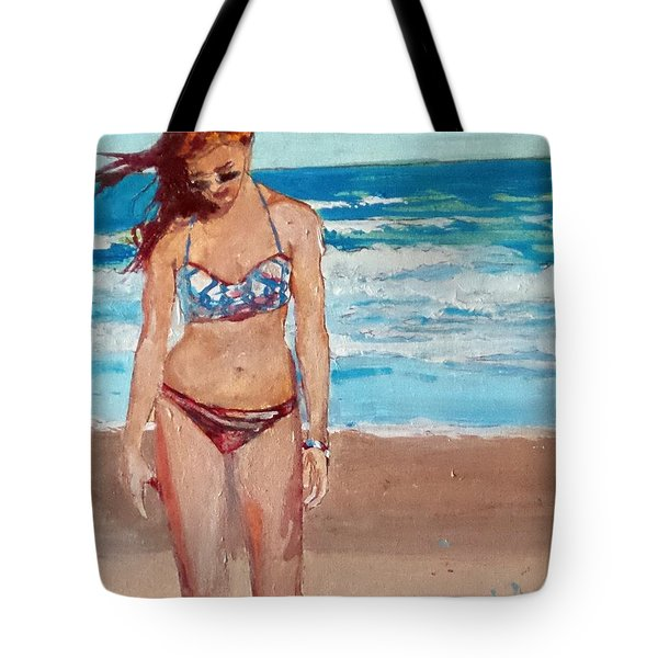 Stephie On The Beach Tote Bag