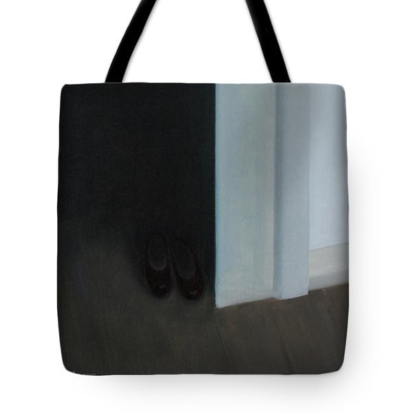Stepping Into The Light? Tote Bag by Tone Aanderaa