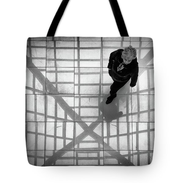 Tote Bag featuring the photograph Stepping Into The Web by John Williams