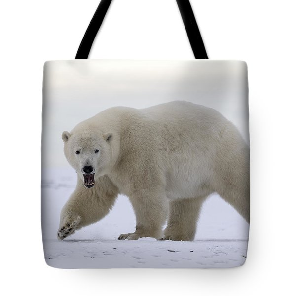 Stepping Out In The Arctic Tote Bag