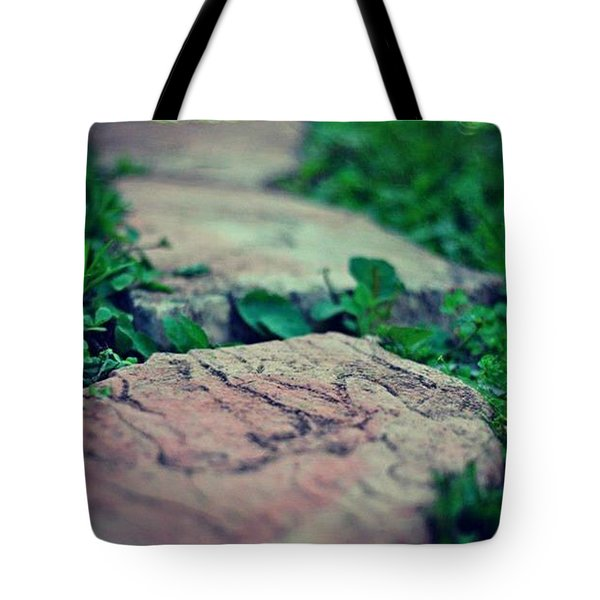 Tote Bag featuring the photograph Stepping Stones by Artists With Autism Inc