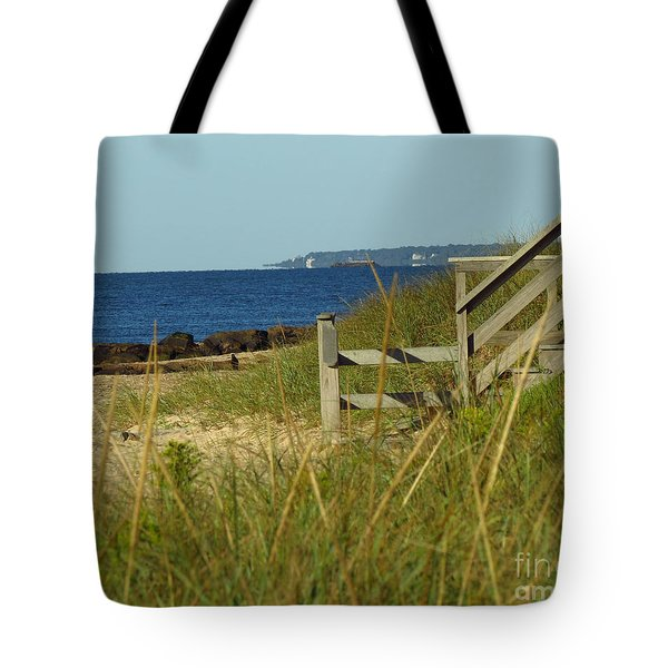 Steps Away From The Ocean Tote Bag