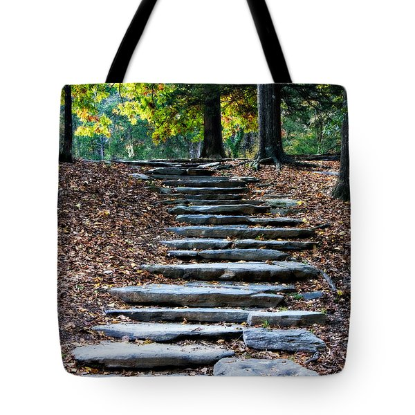 Steps Of Fall Tote Bag
