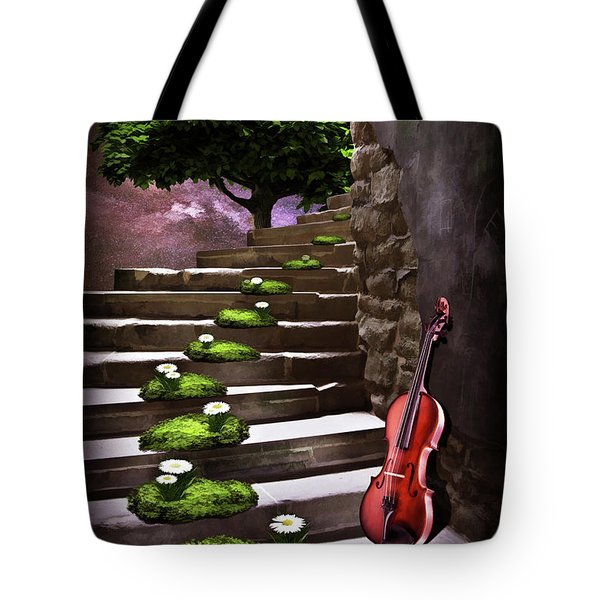 Steps Of Happiness Tote Bag by Mihaela Pater