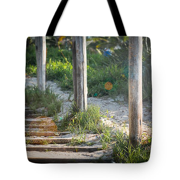 Steps Off The Beach Tote Bag