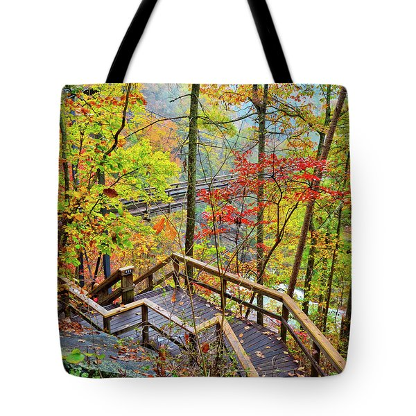Steps To The Gorge Tote Bag
