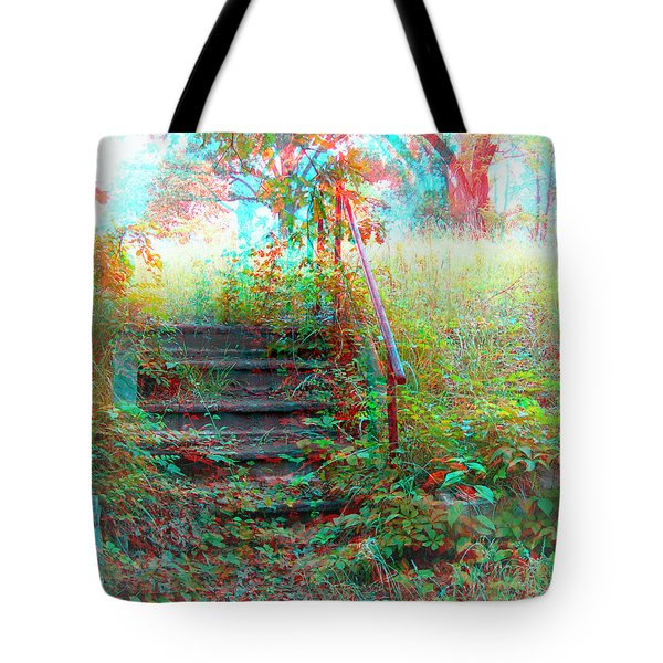 Steps To Yesterday - Use Red-cyan 3d Glasses Tote Bag
