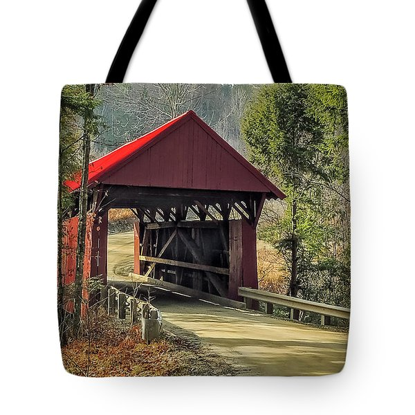 Sterling Covered Bridge Tote Bag
