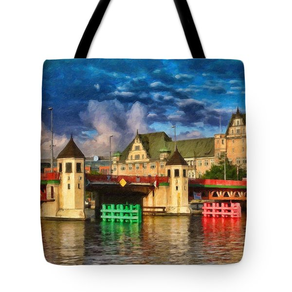 Stettin Bridge - Pol890431 Tote Bag