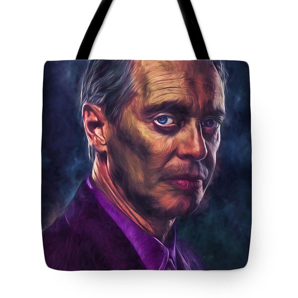 Tote Bag featuring the photograph Steve Buscemi Actor Painted by David Haskett