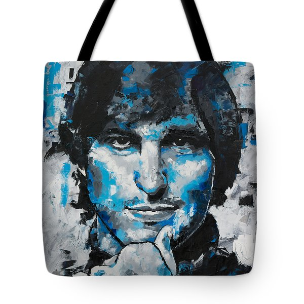 Tote Bag featuring the painting Steve Jobs II by Richard Day