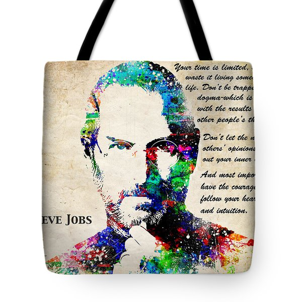 Steve Jobs Portrait Tote Bag