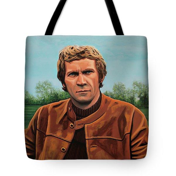 Steve Mcqueen Painting Tote Bag