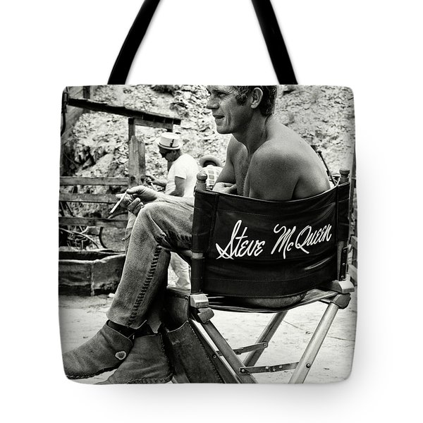 Steve Mcqueen Taking A Break Tote Bag