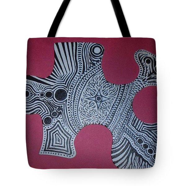 Steve Puzzle Piece Tote Bag