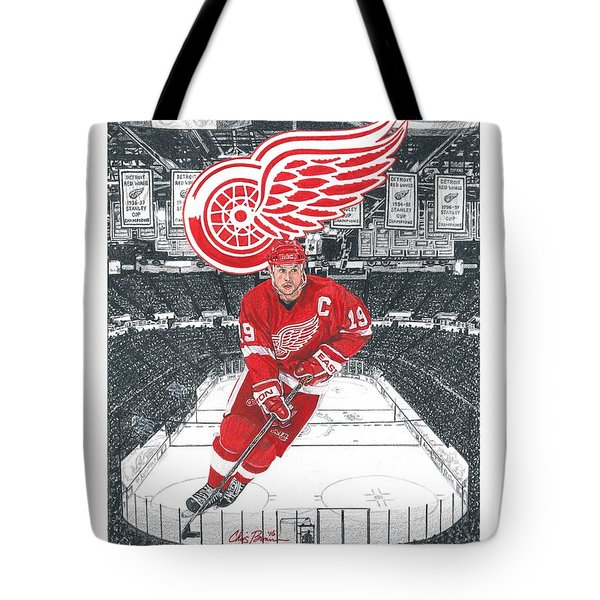 Steve Yzerman  Tote Bag