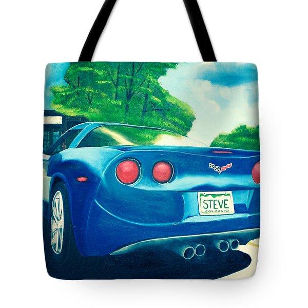 Steve's Corvette Tote Bag