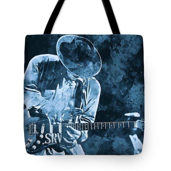 Stevie Ray Vaughan - 12 Tote Bag