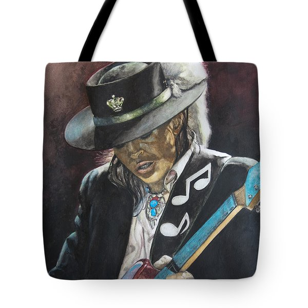 Stevie Ray Vaughan  Tote Bag by Lance Gebhardt