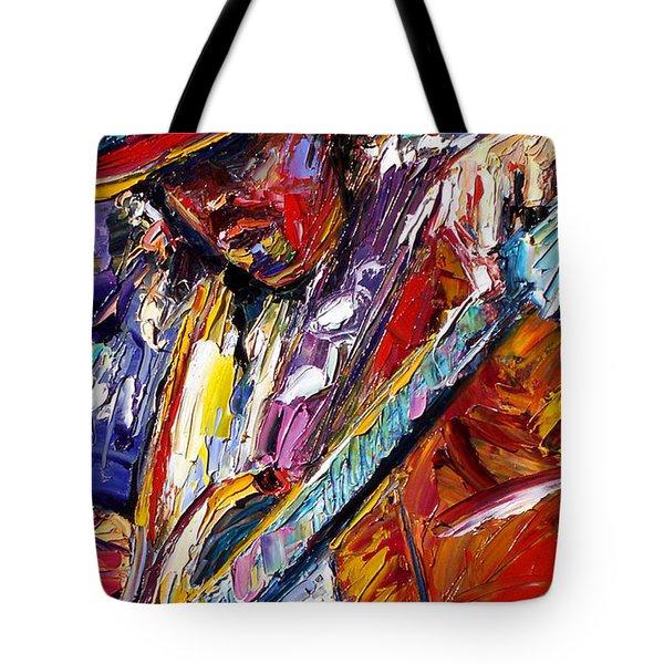 Stevie Ray Vaughan Number One Tote Bag by Debra Hurd