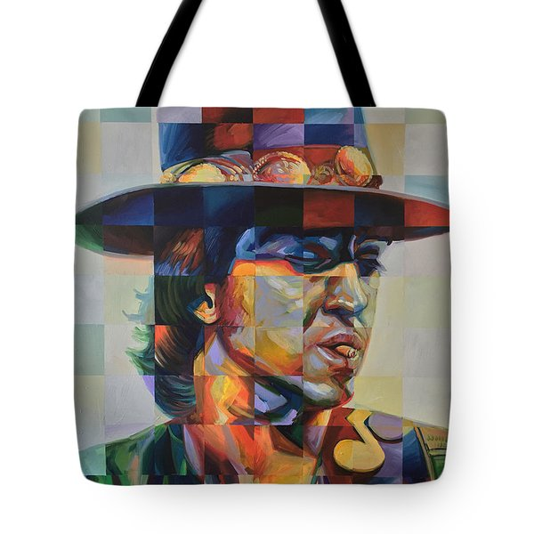 Stevie Ray Vaughan Tote Bag by Steve Hunter