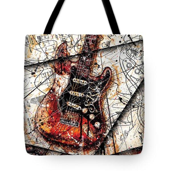 Stevie's Guitar V4 Tote Bag by Gary Bodnar