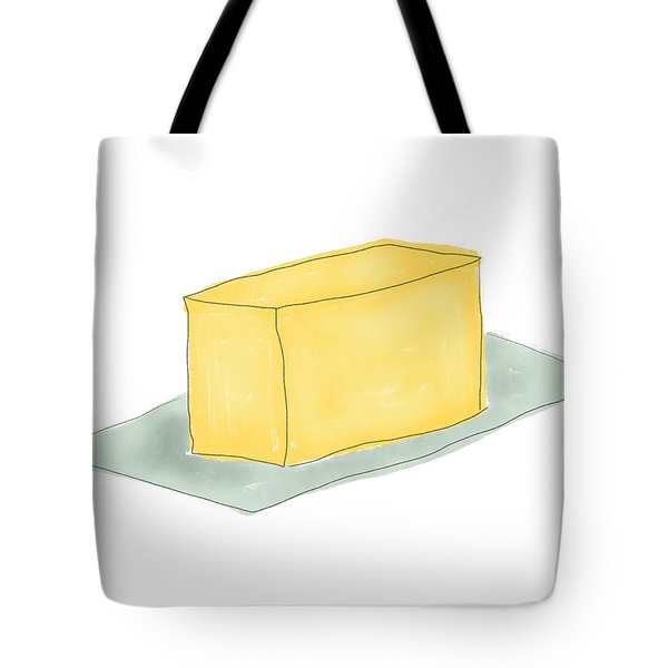 Stick Of Butter- Art By Linda Woods Tote Bag