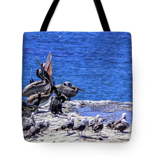 Pelican Sticking His Neck Out Tote Bag