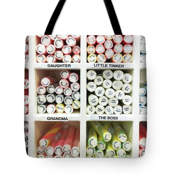 Sticks Of Rock Tote Bag