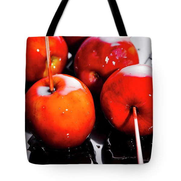 Sticky Red Toffee Apple Childhood Treat Tote Bag