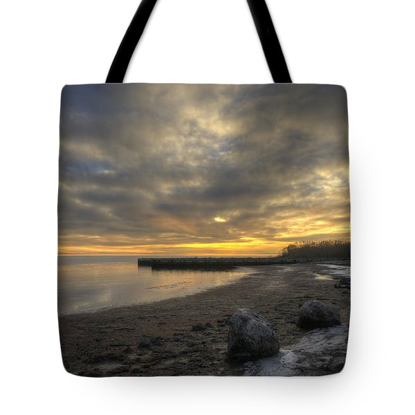 Still Bay Tote Bag by Steve Gravano