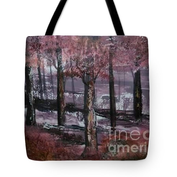 Tote Bag featuring the painting Still Beauty by Lori  Lovetere