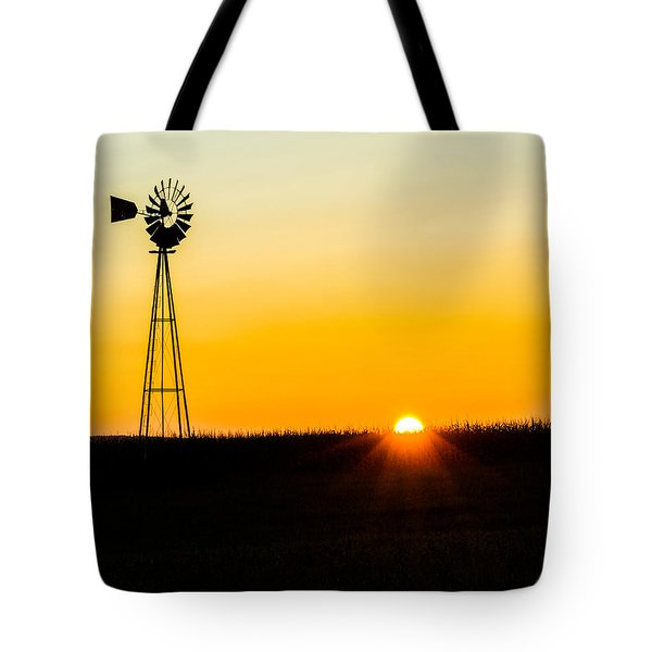Still Country Sunset Silhouette Tote Bag by Chris Bordeleau