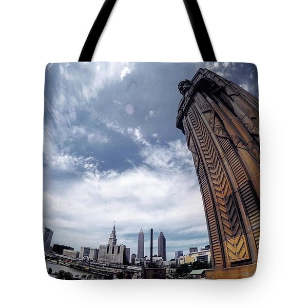 Towering Over #cle Tote Bag