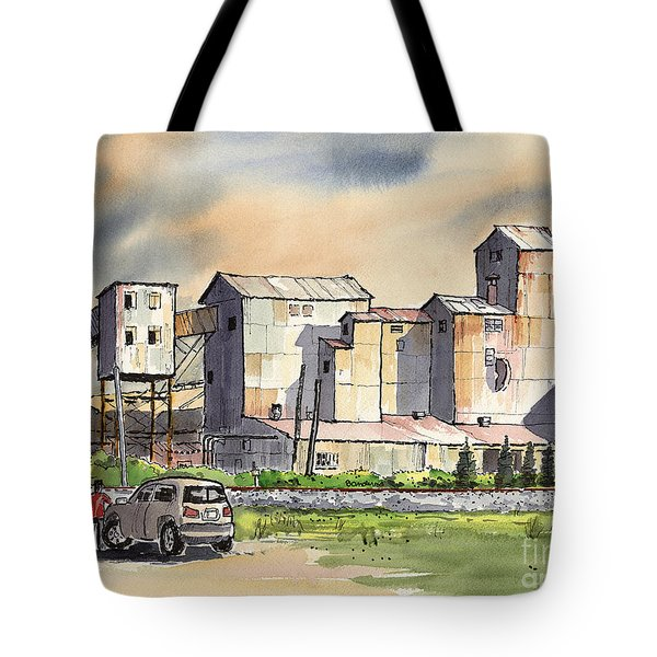 Tote Bag featuring the painting Still In Business by Terry Banderas