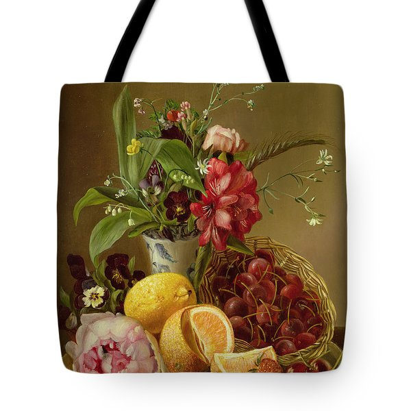Still Life Tote Bag by Albertus Steenberghen