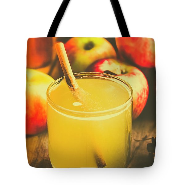 Still Life Apple Cider Beverage Tote Bag