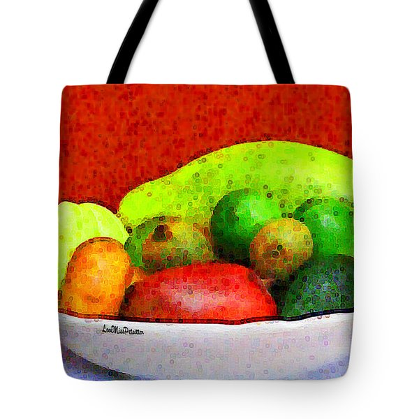 Still Life Art With Fruits Tote Bag
