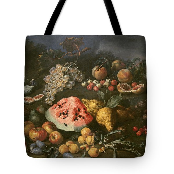 Still Life Tote Bag by Bartolomeo Bimbi