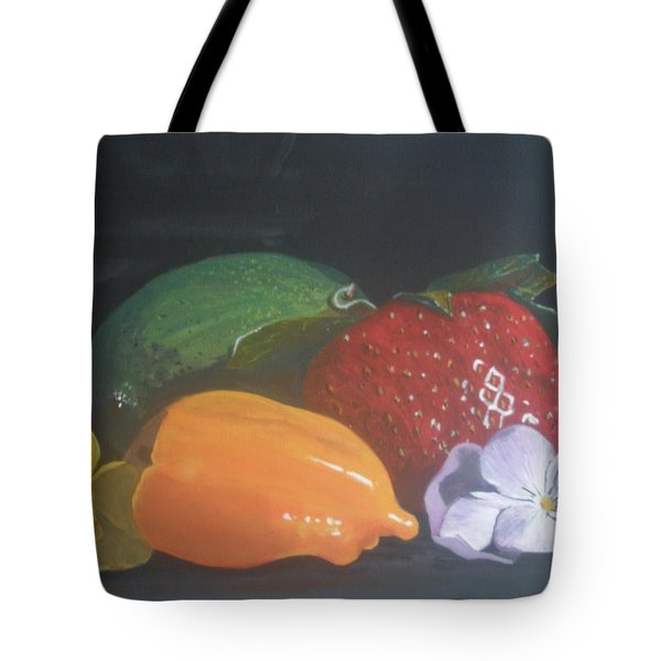 Tote Bag featuring the painting Still Life by Betty-Anne McDonald