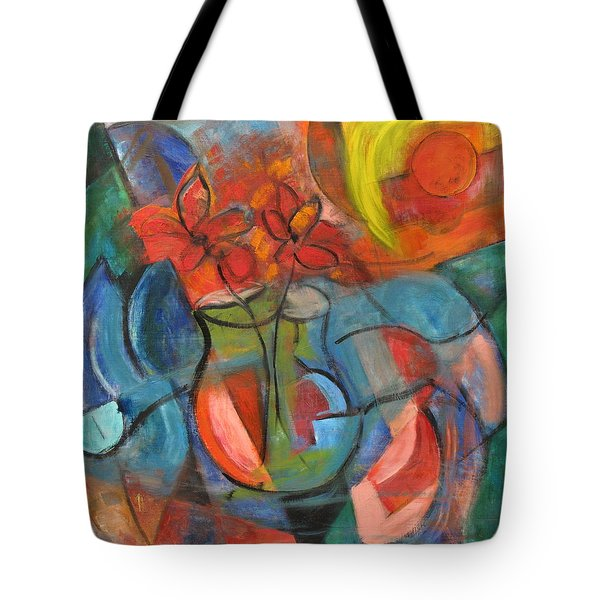 Still Life-flowers With Fruit Tote Bag