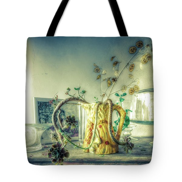 Tote Bag featuring the photograph Still, Life Goes On by Wayne Sherriff