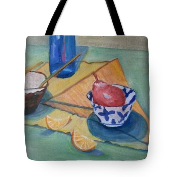 Still Life In Action Tote Bag by Carol Duarte