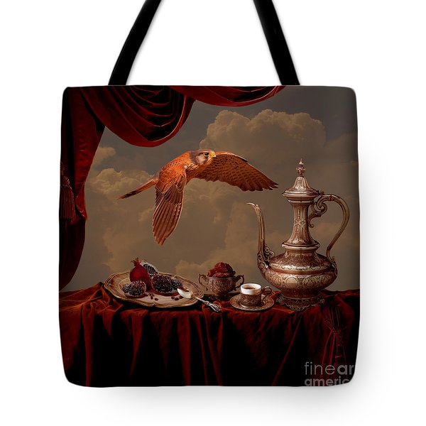 Tote Bag featuring the digital art Still Life In Arabic Style by Alexa Szlavics
