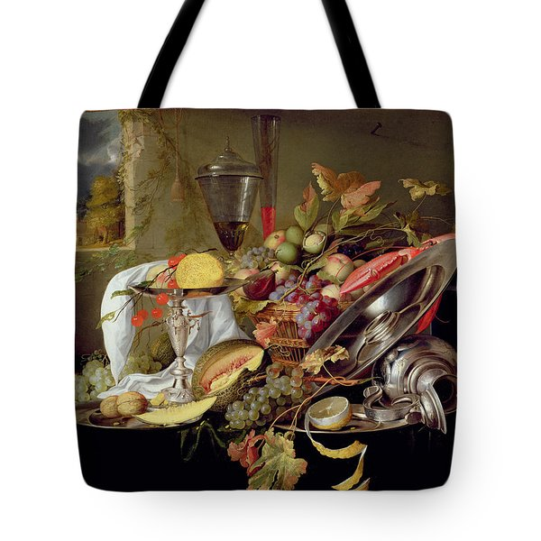 Still Life Tote Bag by Jan Davidsz Heem