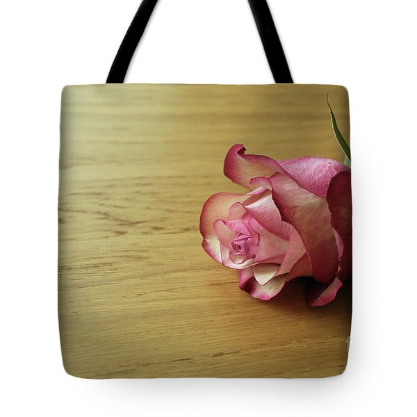 Still Life, Macro Photo Of Pink Rose Flower Tote Bag by Pixelshoot Photography