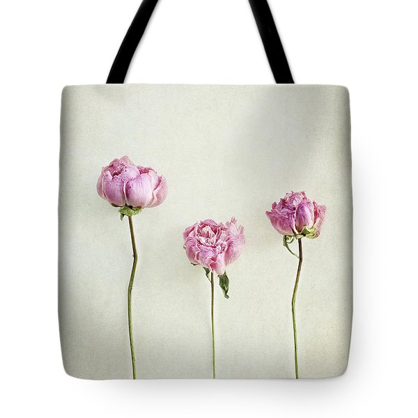 Still Life Of Dried Peonies With Texture Overlay Tote Bag