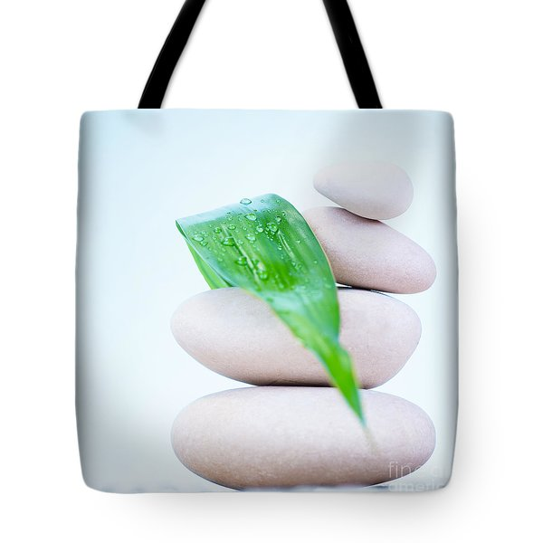 Still Life Of Spa Stones Tote Bag