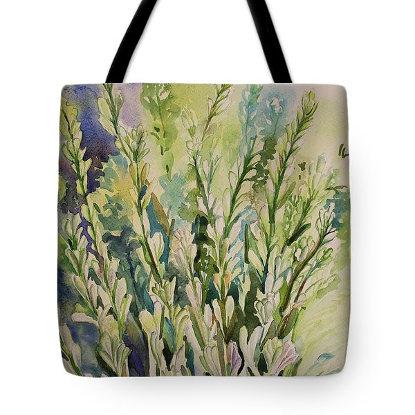 Tote Bag featuring the painting Still Life Of Tuberose Flowers by Geeta Biswas